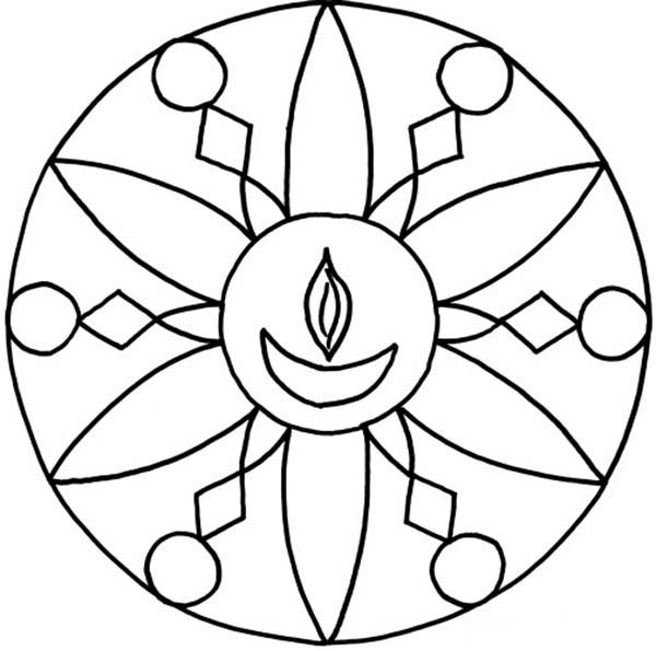 Free Kolam Coloring Pages