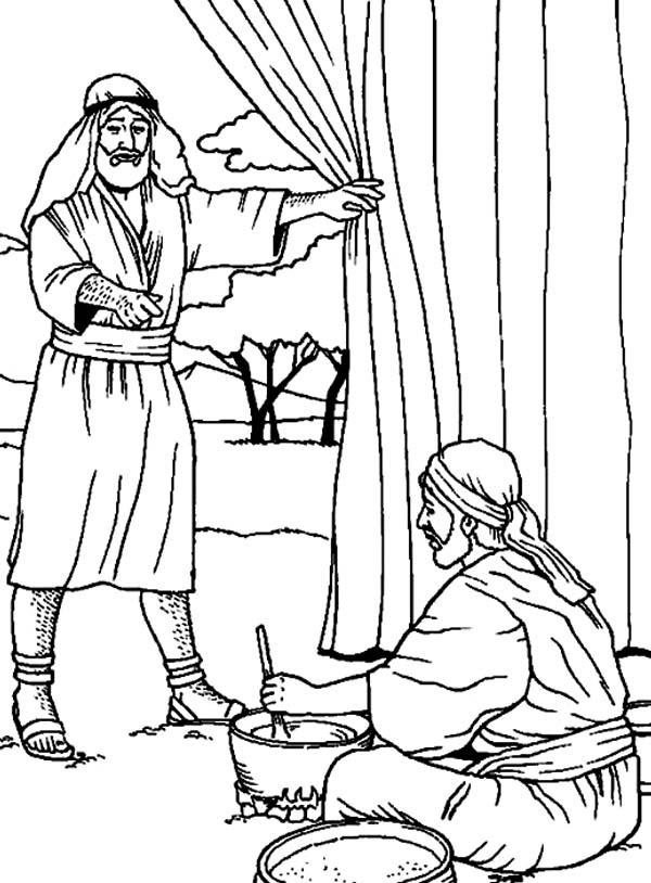 Jacob And Esau Coloring Pages Jacob y Esaú - Ne...