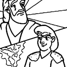Jacob Exchange Red Pottage Soup for Esau Birth Right in Jacob and Esau Coloring Page