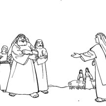 Jacob Meets Laban in Jacob and Esau Coloring Page