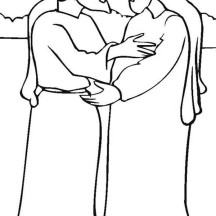 Jacob and Esau Meet After Years Coloring Page