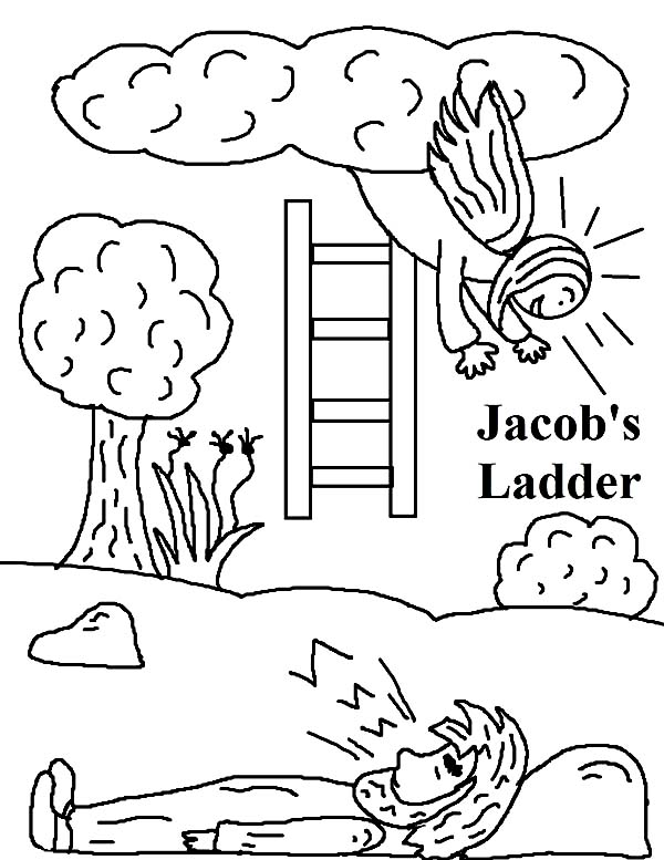 jacobs ladder in jacob and esau coloring page