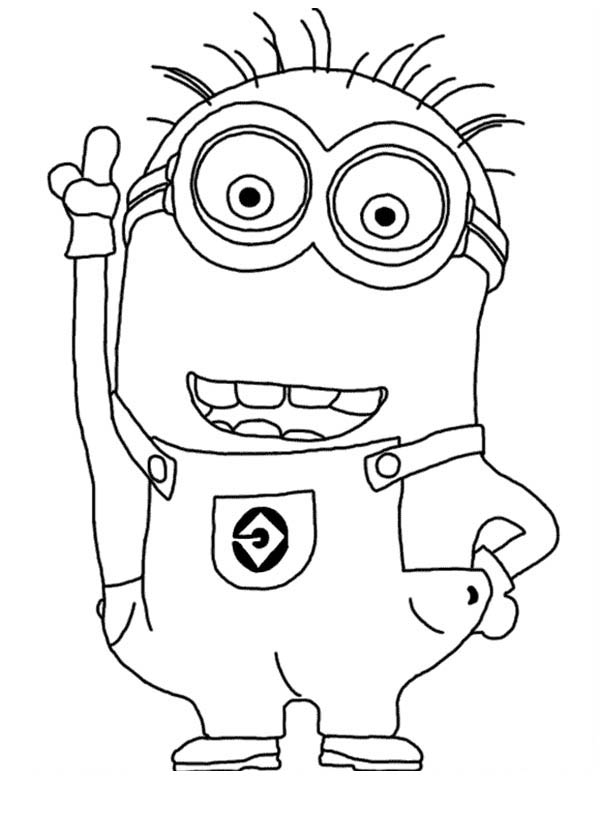 Jerry the Minion from Despicable Me Coloring Page NetArt