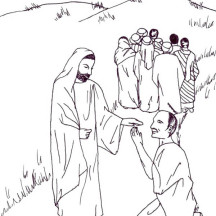 Jesus Heals The Lepers In Miracles Of Coloring Page