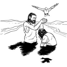 John Pour Some Water with Holy Spirit in John the Baptist Coloring Page