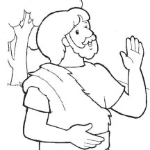 John the Baptist Image Coloring Page