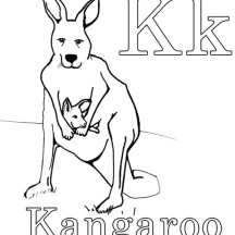 K Is For Kangaroo Coloring Page is for Kangaroo Coloring Page