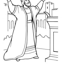 King Solomon Built a Beautiful Temple fro God Coloring Page