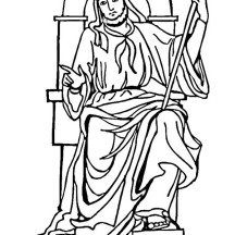 King Solomon Throne Coloring Page