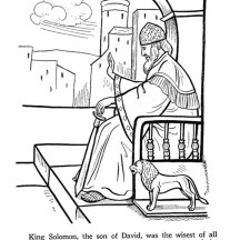 King Solomon was The Wisest of All King in the Story of King Saul Coloring Page