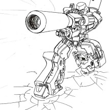 Loaded Bazooka of Megatron Coloring Page