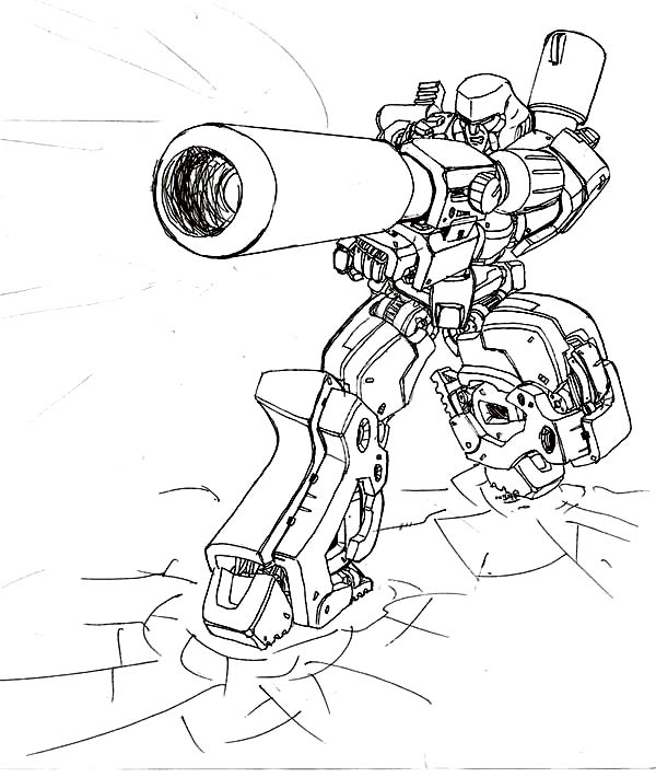megatron coloring pages - loaded bazooka of megatron coloring page netart