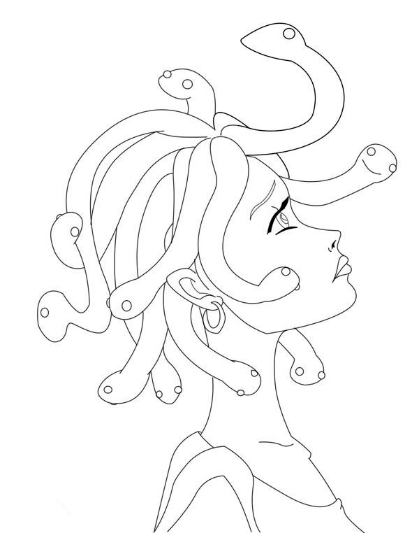 Manga drawing medusa coloring page netart for Medusa coloring pages