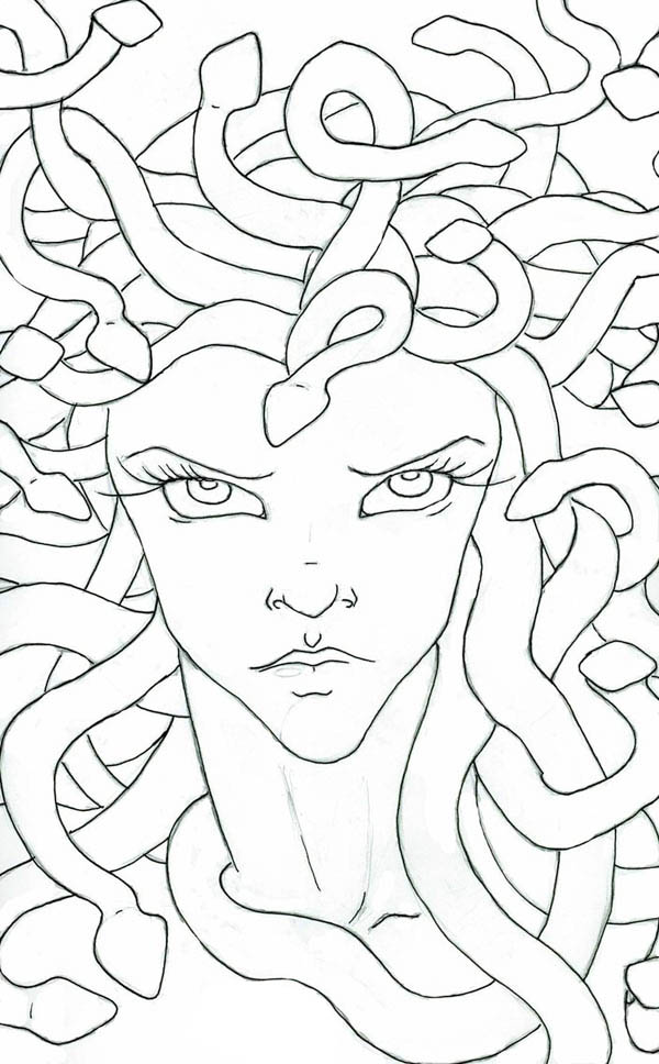 Medusa staring eyes coloring page netart for Medusa coloring pages