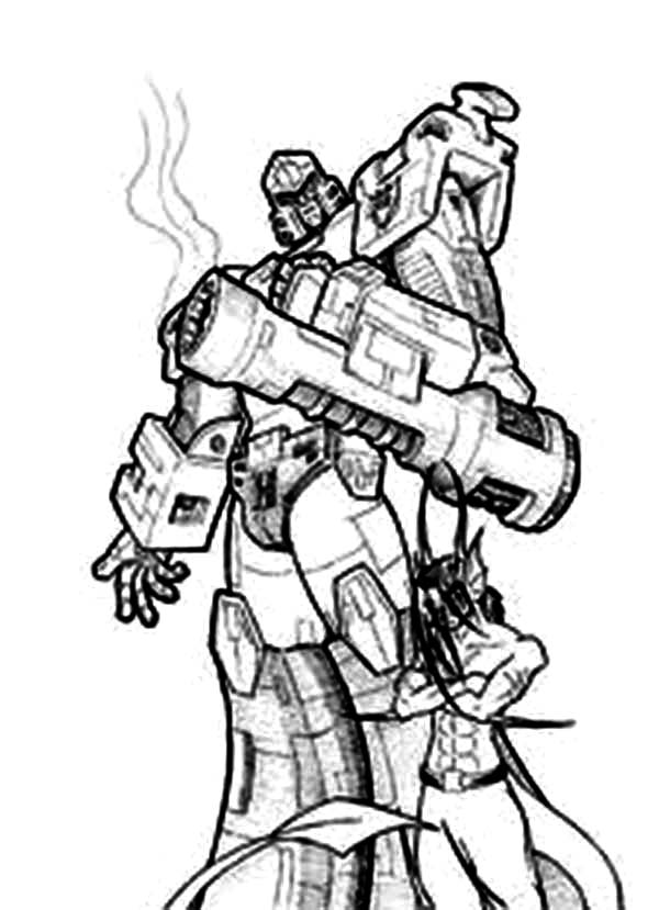 Megatron After Shot His Bazooka Coloring Page