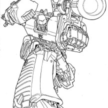 Megatron Amazing Bazooka Coloring Page