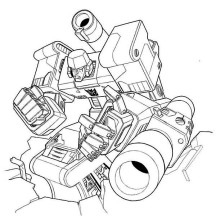 Megatron Losing the Battle Coloring Page