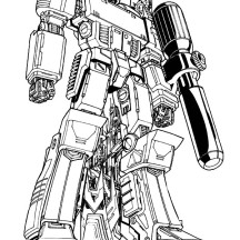 Megatron Poster Coloring Page