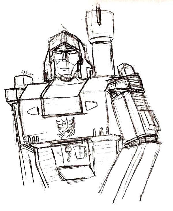 megatron skecth coloring page
