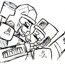 Megatron Threaten Autobot Coloring Page