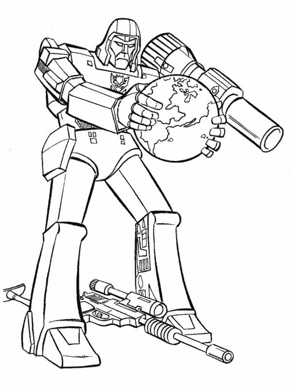 Megatron Want to Rule the World Coloring Page