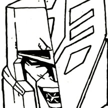 Megatron the Decepticon Coloring Page