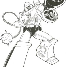 Megatron with Bazooka Coloring Page