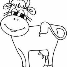 Milch Cow with Long Eyelash Coloring Page