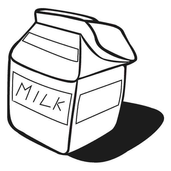 Milk Carton Coloring Page - NetArt
