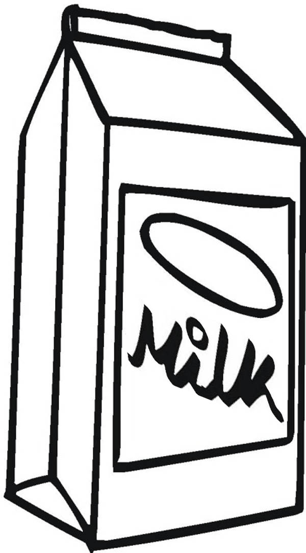 Milk Carton Picture Coloring Page - NetArt