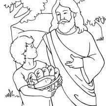 Miracles of Jesus Coloring Page