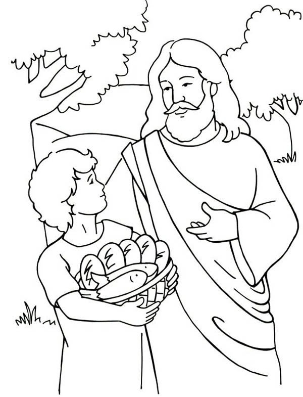 Miracles of Jesus Coloring Page NetArt