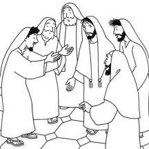 Miracles of Jesus Heals Sick Person Coloring Page