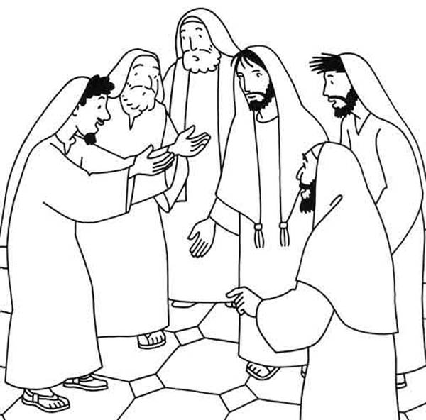 Miracles of Jesus Heals Sick Person Coloring Page - NetArt