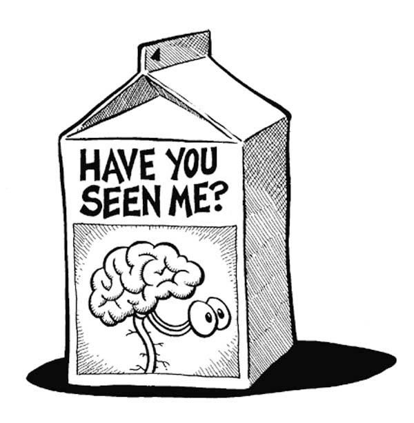 Missing Brain On Milk Carton Coloring Page