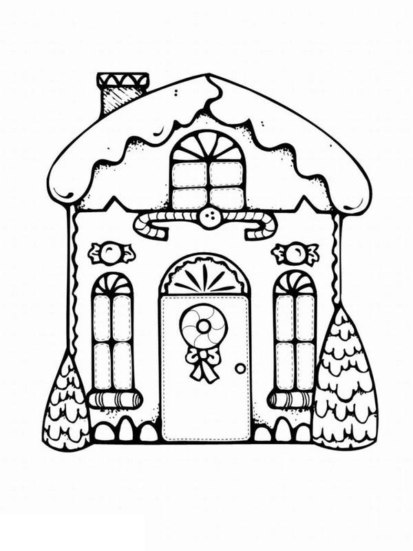 My Favorite Gingerbread House Coloring Page