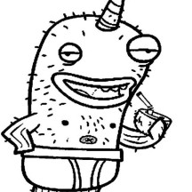 Nick Narwhal Coloring Page