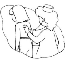 Nurse netart for Stethoscope coloring page