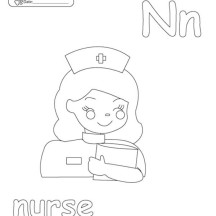 Nurse Coloring Page for Kids