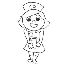 Nurse Sweet Smile Coloring Page