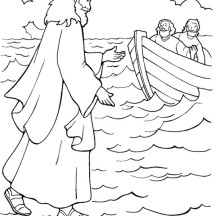 Miracles of jesus netart for Jesus walks on water coloring pages