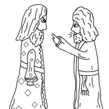 Paul and Elymas the Sorcerer Acts in Jacob and Esau Coloring Page