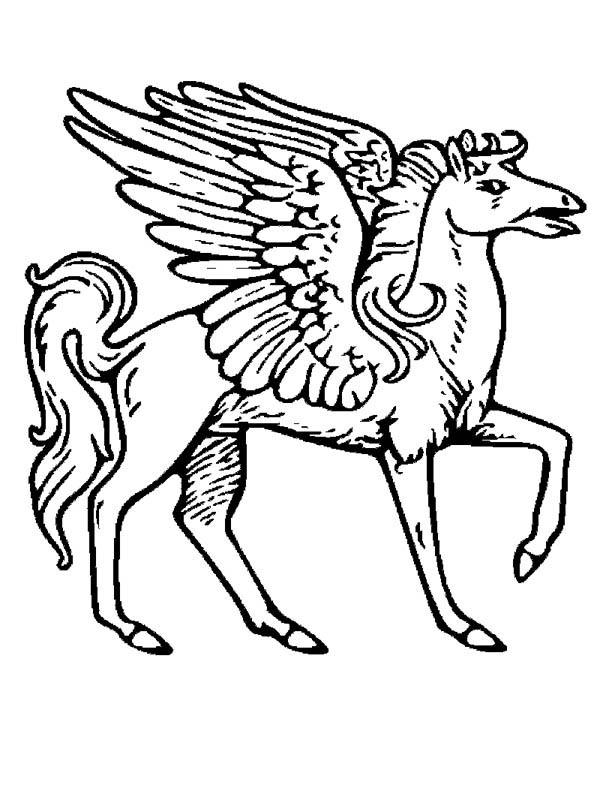 Pegasus coloring page for kids netart for Coloring pages of pegasus