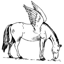 Pegasus Eating Grass Coloring Page