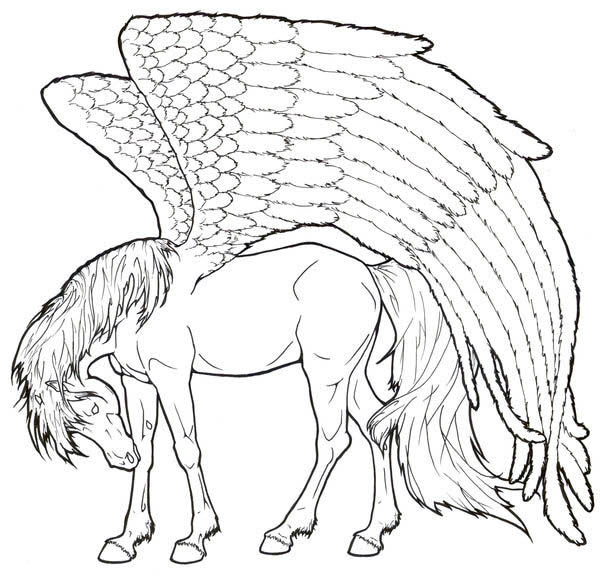 coloring pages of pegasus pegasus is so tired coloring page netart