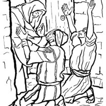 People Worship the Miracles of Jesus Coloring Page