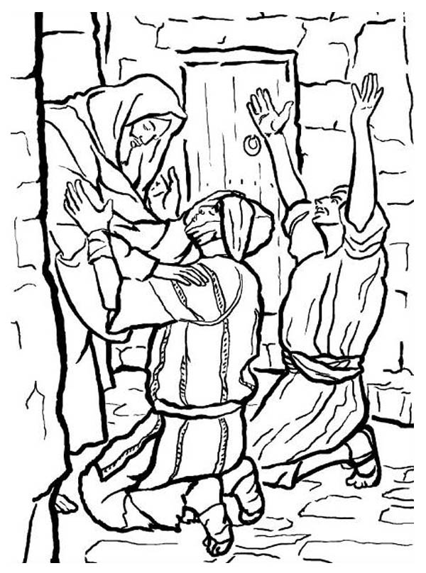 People Worship The Miracles Of Jesus Coloring Page Netart