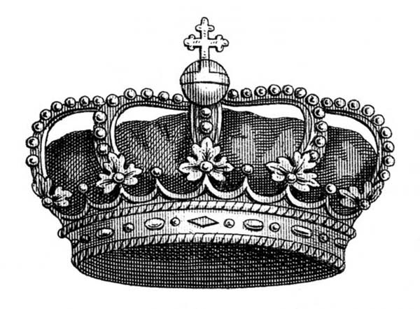 Phot of Awesome Princess Crown Coloring Page