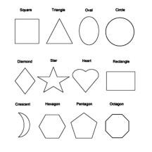 Picture of Basic Shapes Coloring Page