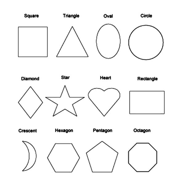coloring pages of different shapes - photo#12